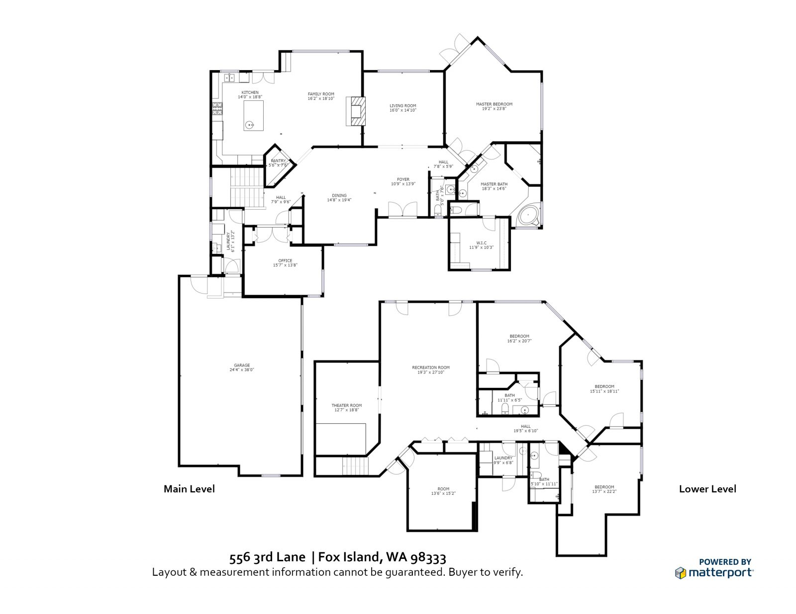 FLOOR PLAN: 556 3rd Lane, Fox Island WA 98333