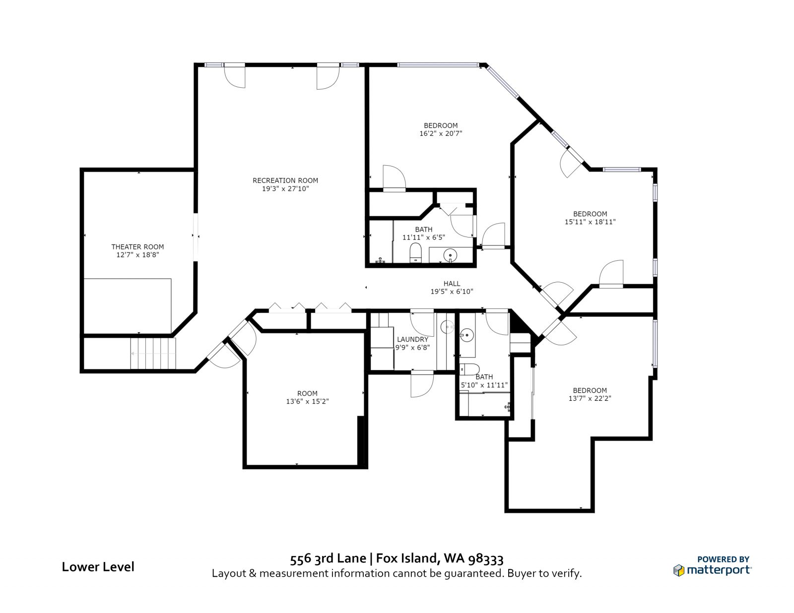 LOWER LEVEL: 556 3rd Lane, Fox Island WA 98333