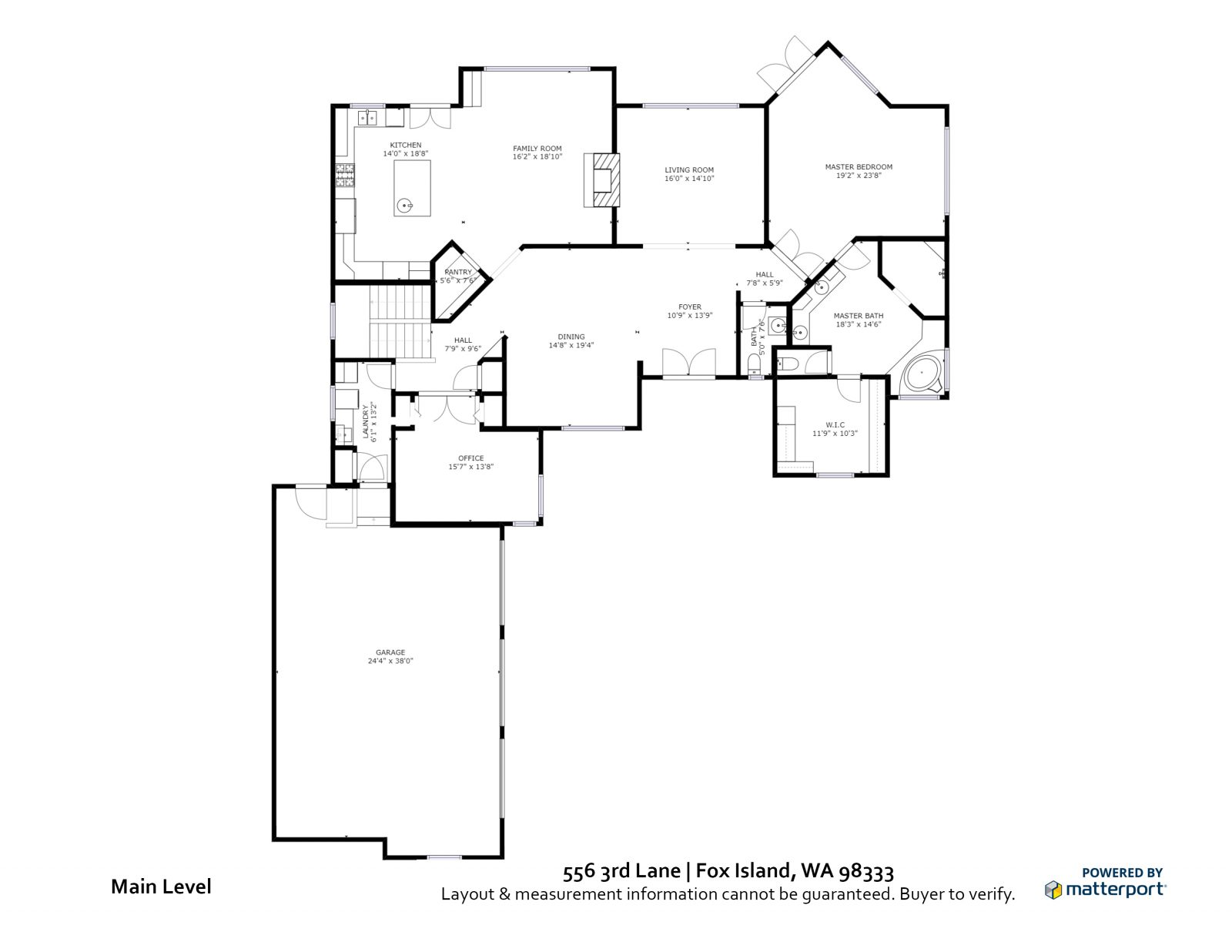 MAIN FLOOR: 556 3rd Lane, Fox Island WA 98333