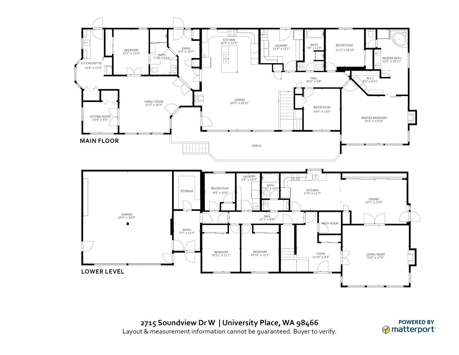 FLOOR PLAN: 2715 Soundview Dr W, University Place WA 98466