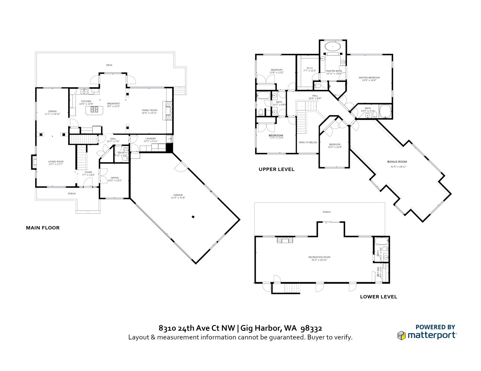 FLOOR PLAN: 8310 24th Ave Ct NW