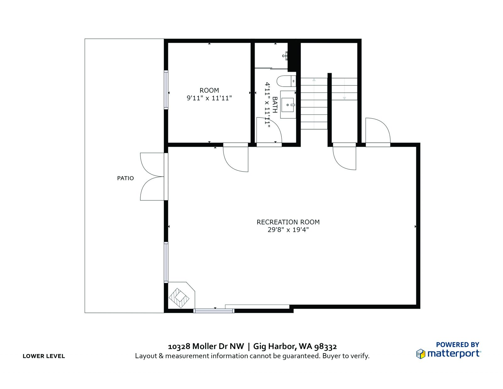 LOWER LEVEL : 10328 Moller Dr NW, Gig Harbor WA 98332