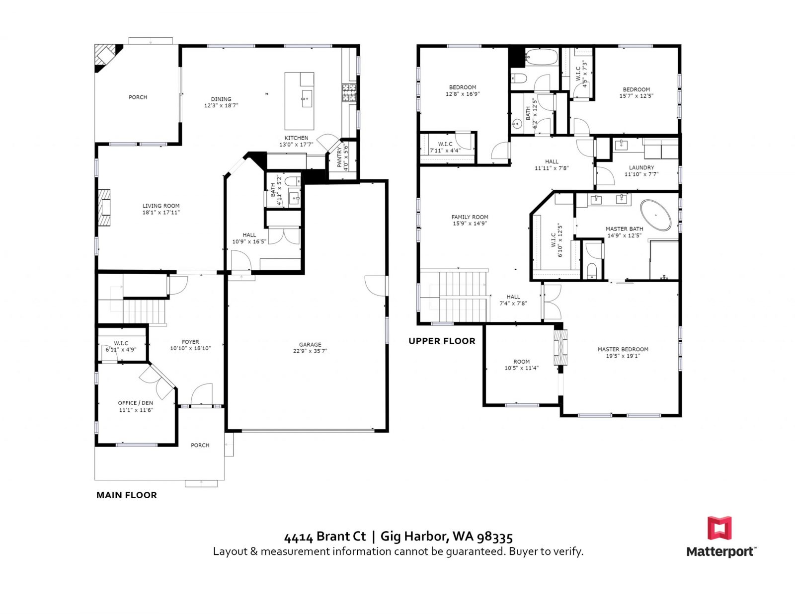 FLOOR PLAN: 4414 Brant Ct, Gig Harbor WA 98335