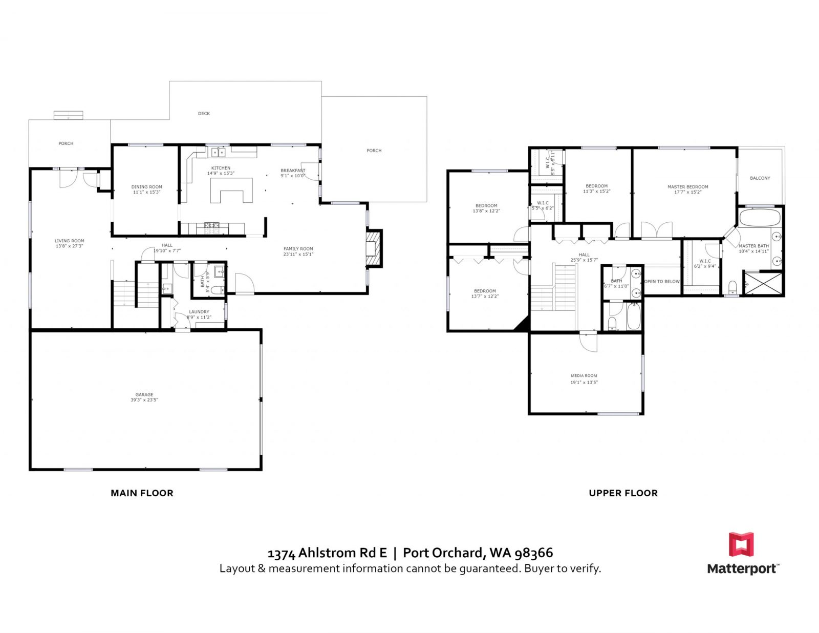 FLOOR PLAN 1374 Ahlstrom Rd E Pt Orchard