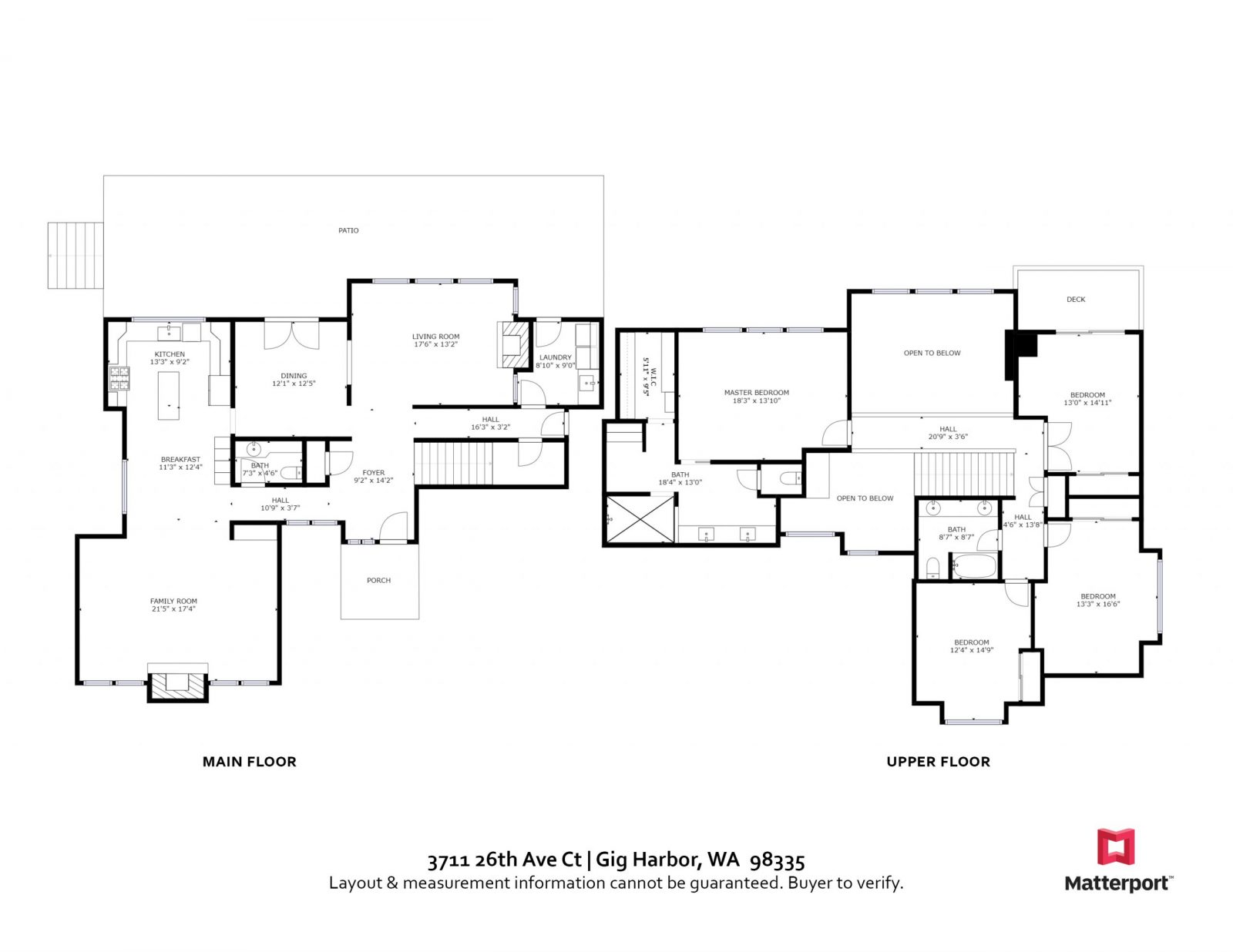 FLOOR PLAN: 3711 26th Ave Ct NW, Gig Harbor WA 98335