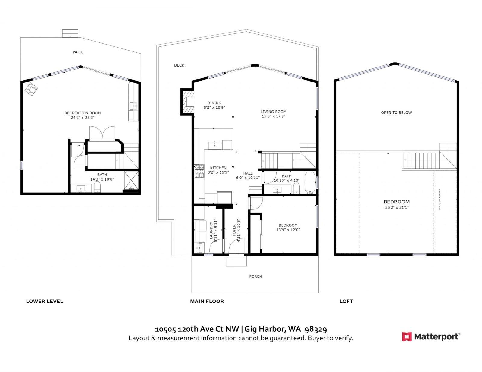 FLOOR PLAN: 10505 120th Ave Ct NW, Gig Harbor WA 98329