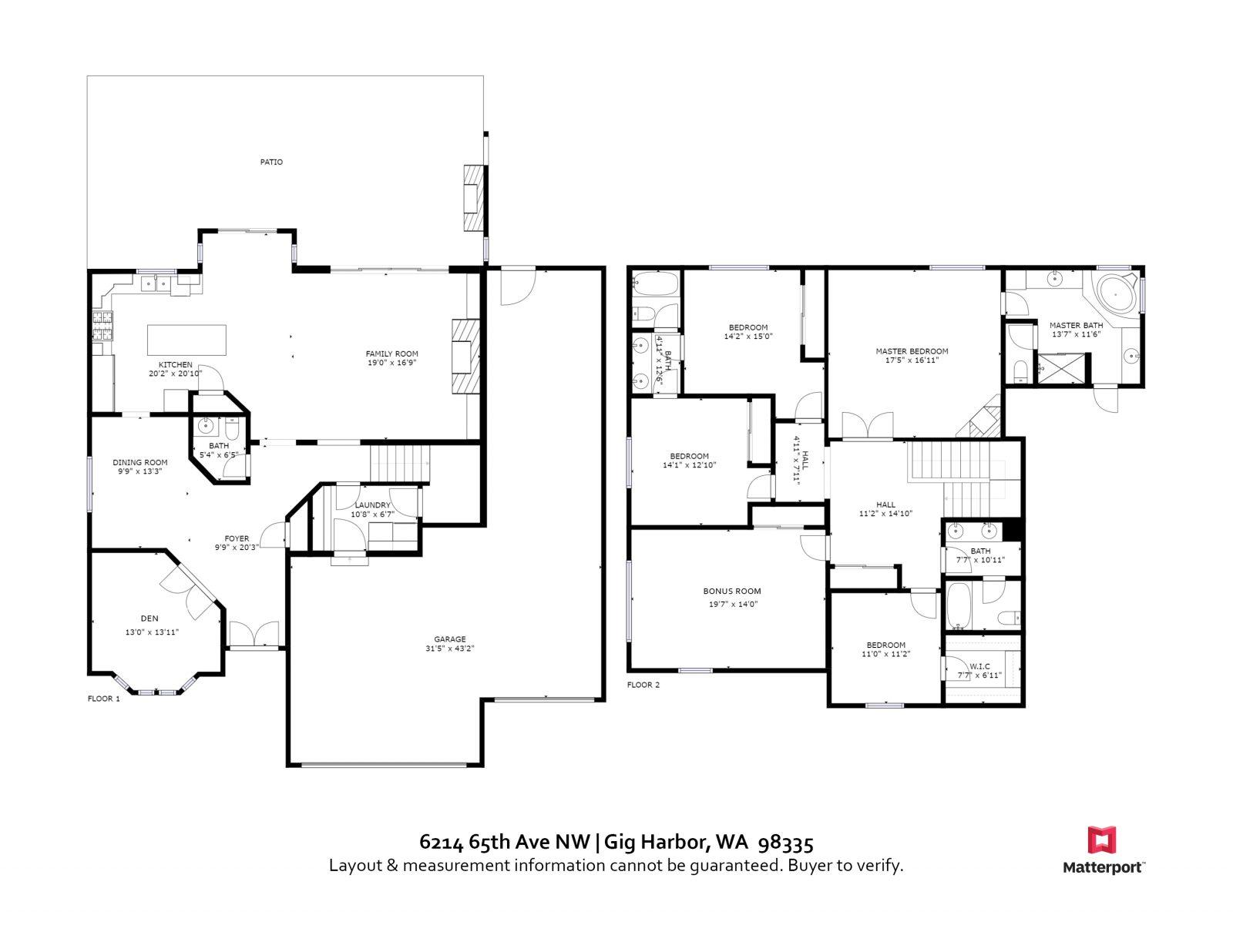 Floor Plan | 6214 65th Ave NW, Gig Harbor WA 98335