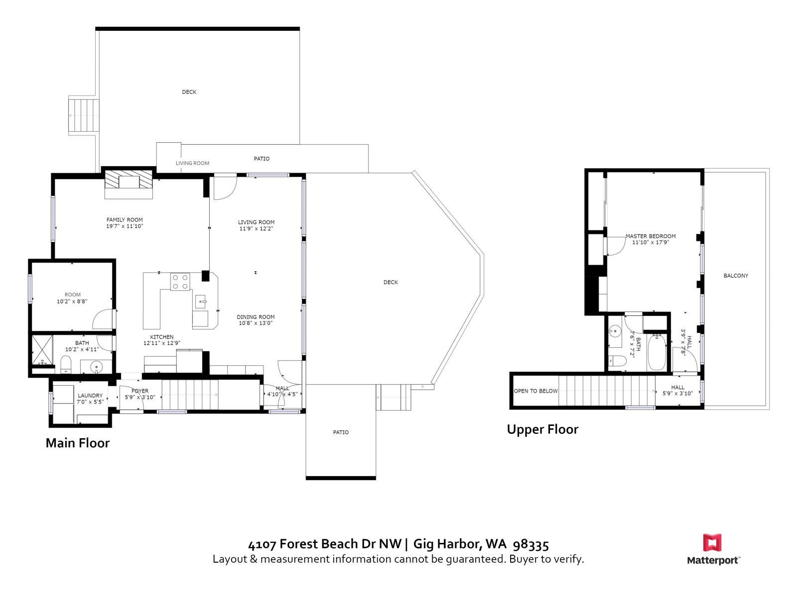 FLOOR PLAN | 4107 Forest Beach Dr NW, Gig Harbor WA