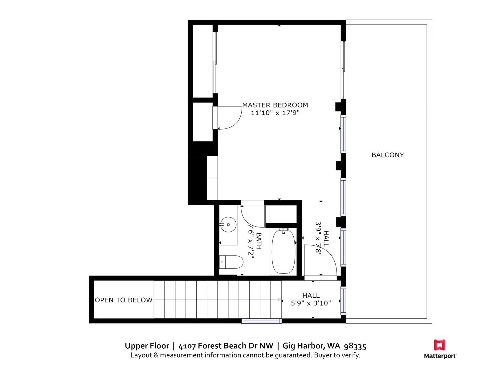 UPPER FLOOR | 4107 Forest Beach Dr NW, Gig Harbor WA