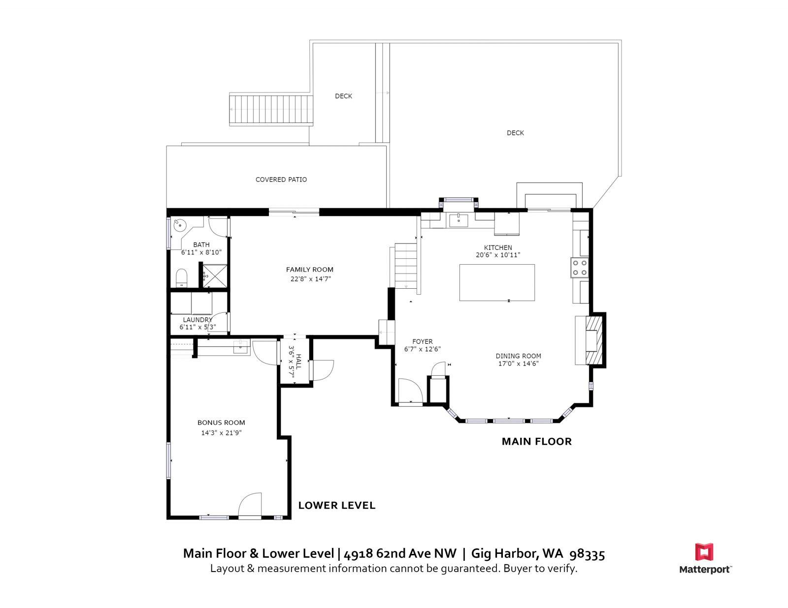 Main Floor & Lower Level    4918 62nd Ave NW